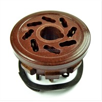 Tube socket octal PL8-1P (ПЛ8-1П) brown